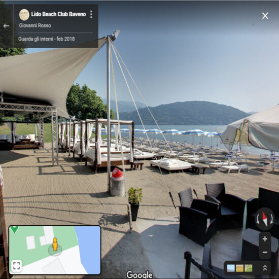 Lido Beach Club Baveno Lido a 360°